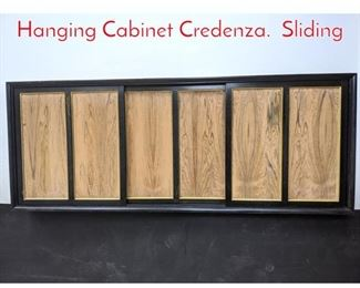 Lot 1284 HARVEY PROBBER Wall Hanging Cabinet Credenza. Sliding
