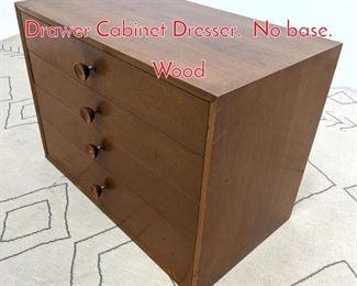 Lot 1296 GEORGE NELSON 4 Drawer Cabinet Dresser. No base. Wood