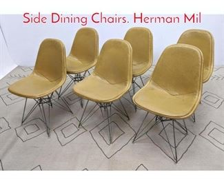 Lot 1300 Set 6 Eames Eiffel Tower Side Dining Chairs. Herman Mil