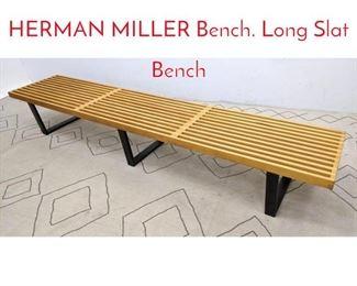 Lot 1301 GEORGE NELSON for HERMAN MILLER Bench. Long Slat Bench