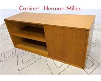 Lot 1303 GEORGE NELSON 1 Door Cabinet. Herman Miller.