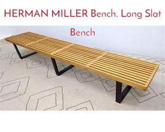 Lot 1304 GEORGE NELSON for HERMAN MILLER Bench. Long Slat Bench