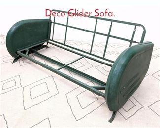 Lot 1307 BARCALO of BUFFALO Art Deco Glider Sofa.