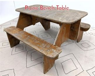 Lot 1308 Vintage Plywood Childrens Picnic Bench Table.