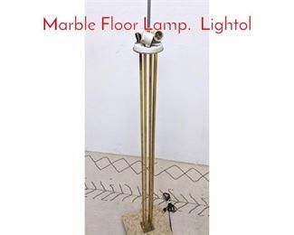 Lot 1312 Paul McCobb Style Brass and Marble Floor Lamp. Lightol