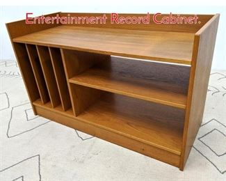 Lot 1314 Danish Modern Teak Entertainment Record Cabinet.