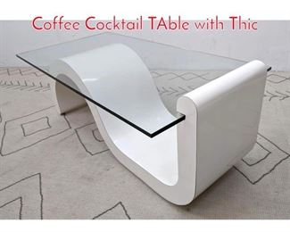 Lot 1316 70s Modern Formica Wave Coffee Cocktail TAble with Thic
