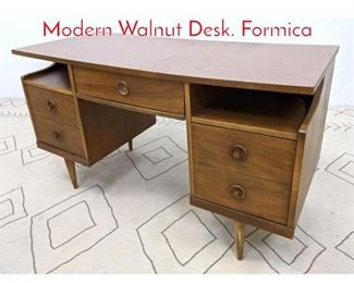 Lot 1318 BASSETT Furniture American Modern Walnut Desk. Formica