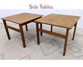 Lot 1321 Pair Danish Modern Teak Side Tables.