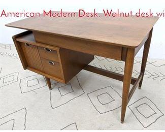 Lot 1323 Mainline by HOOKER American Modern Desk. Walnut desk wi