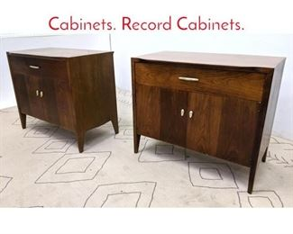 Lot 1326 Pair DREXEL Server Cabinets. Record Cabinets.