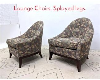 Lot 1327 Pair HICKORY CHAIR CO. Lounge Chairs. Splayed legs.