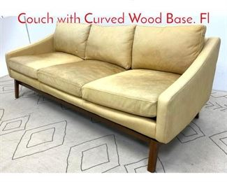 Lot 1329 Mid Century Modern Sofa Couch with Curved Wood Base. Fl