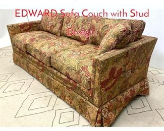 Lot 1330 Designer FREDERICK EDWARD Sofa Couch with Stud Design.