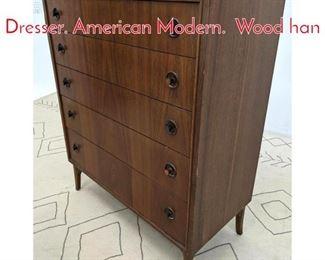 Lot 1336 KROEHLER Tall Chest Dresser. American Modern. Wood han