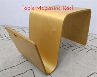Lot 1334 Molded Birch Plywood Side Table Magazine Rack.
