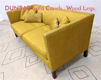 Lot 1356 EDWARD WORMLEY for DUNBAR Sofa Couch. Wood Legs.