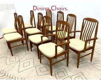 Lot 1360 set 10 Danish Modern Teak Dining Chairs.