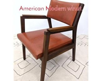 Lot 1361 Jens Risom Style Arm Chair. American Modern wlnut.