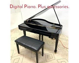 Lot 1365 SUZIKI GP3 Mini Grand Digital Piano. Plus accessories.