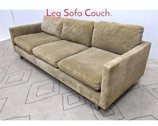 Lot 1366 Mid Century Modern Chrome Leg Sofa Couch.