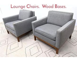 Lot 1367 Pair STEELCASE Club Lounge Chairs. Wood Bases.