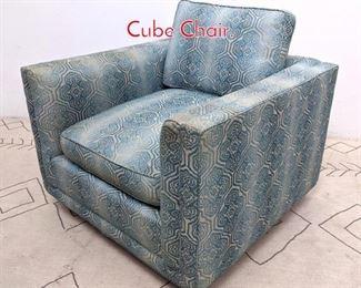 Lot 1368 Mid Century Modern Cube Chair.