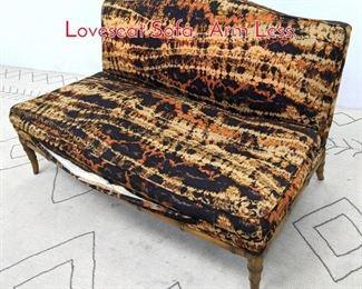 Lot 1369 Faux Bamboo Framed Loveseat Sofa. Arm Less.