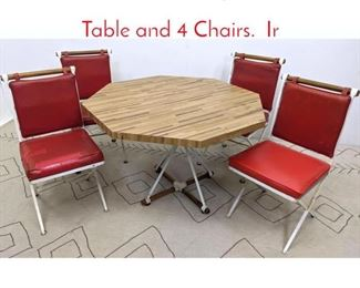 Lot 1375 Cleo Baldon Style Dinette Set. Table and 4 Chairs. Ir