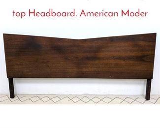 Lot 1376 Mid Century Modern Angled top Headboard. American Moder