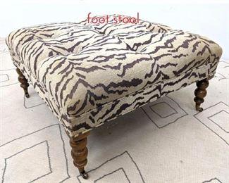 Lot 1377 Large Animal Print Ottoman foot stool.