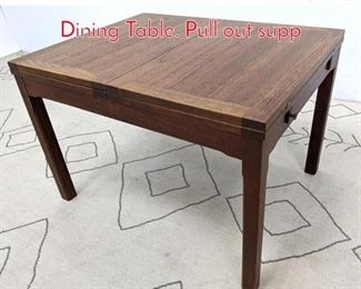 Lot 1380 Danish Modern Teak Flip Top Dining Table. Pull out supp