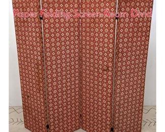 Lot 1387 50s Modern Printed wall Paper Folding Screen Room Divid