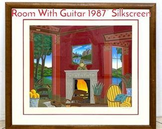 Lot 1391 THOMAS McKNIGHT Red Room With Guitar 1987 Silkscreen