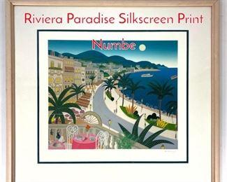 Lot 1395 THOMAS McKNIGHT Riviera Paradise Silkscreen Print Numbe