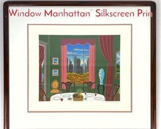 Lot 1397 THOMAS McKNIGHT Pink Window Manhattan Silkscreen Prin