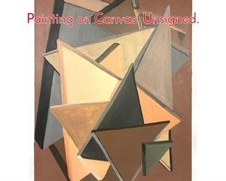 Lot 1398 Modernist Geometric Oil Painting on Canvas. Unsigned.