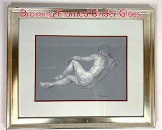 Lot 1400 Paul DuSold Classical Conte Drawing Framed Under Glass.