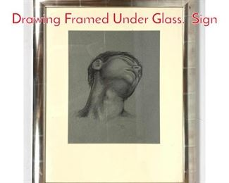 Lot 1401 Paul DuSold Classical Drawing Framed Under Glass. Sign
