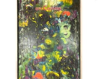 Lot 1404 Abstract Modern Oil Painting on Canvas.