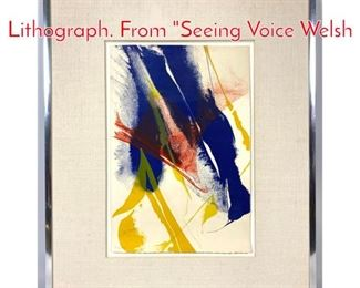 Lot 1406 PAUL JENKINS Color Lithograph. From Seeing Voice Welsh