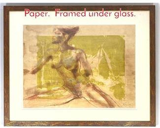 Lot 1411 ARTIS LANE Watercolor on Paper. Framed under glass.