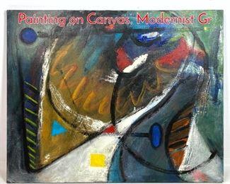 Lot 1416 MARLENE BREMER Acrylic Painting on Canvas. Modernist Gr