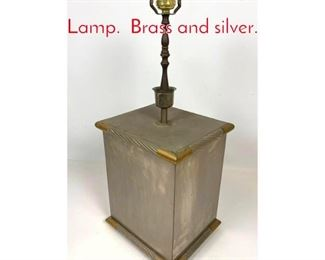Lot 1418 TB Made in Utaly Table Lamp. Brass and silver.