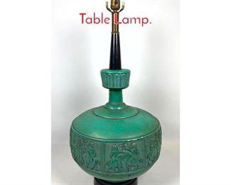 Lot 1419 50s Modern Chalk Wear Table Lamp.