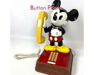 Lot 1431 Vintage Mickey Mouse Push Button Phone.