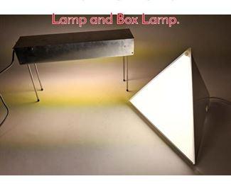 Lot 1435 2pcs Lighting. Pyramid Lamp and Box Lamp.