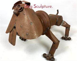 Lot 1433 Welded Found Object Garden Dog Sculpture.