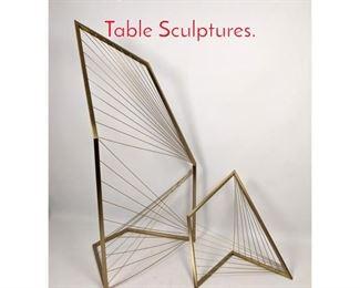 Lot 1438 2pcs Contemporary Metal Table Sculptures.