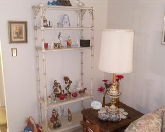 Vintage White Display Shelf $60.00